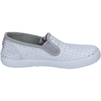 Zapatos Mujer Slip on Cienta slip on blanco textil plata profumate BX350 blanco