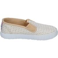 Zapatos Mujer Slip on Cienta slip on blanco textil dorado profumate BX351 blanco