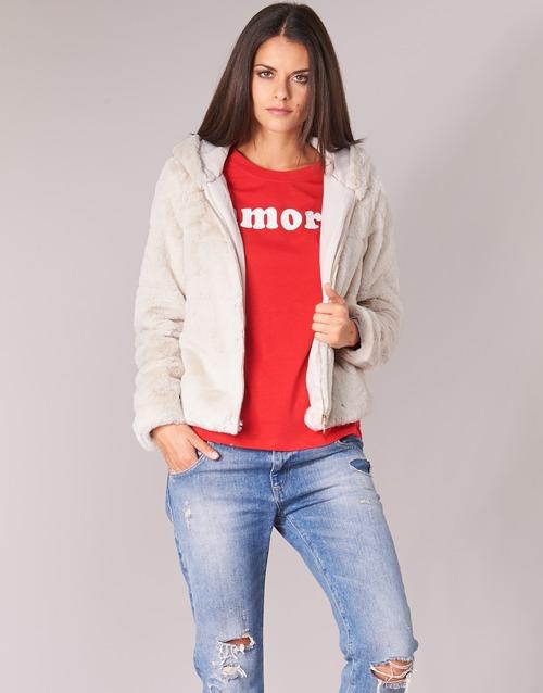 textil Mujer cazadoras Only ONLCHRIS Beige