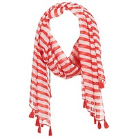 Accesorios textil Mujer Bufanda André DOVA Blanco / Rojo