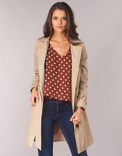 Textil Betty London Jivelu Beige Mujer Trench dxQshCrt