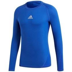 textil Hombre Camisetas manga larga adidas Originals Alphaskin LS Azul