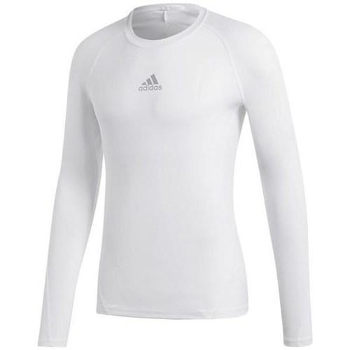 adidas Originals Alphaskin Sport LS Blanco - textil Camisetas manga larga Hombre
