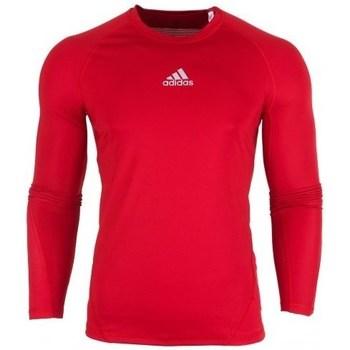textil Hombre Camisetas manga larga adidas Originals Alphaskin LS Rojos