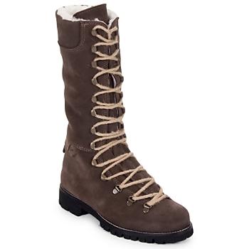 Zapatos Mujer Botas de caña baja Swamp STIVALE LACCI MONTONE Marrón