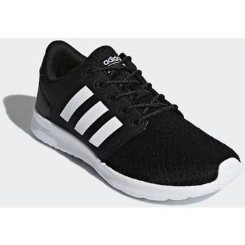 Zapatos Mujer Zapatillas bajas adidas Originals Cloudfoam QT Racer Negros-Blanco
