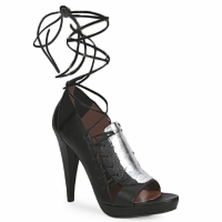 Zapatos Mujer Sandalias Sigerson Morrison STRUZZO Negro / Plateado