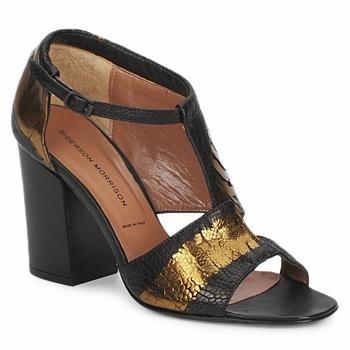 Zapatos Mujer Sandalias Sigerson Morrison STRUZZO Negro / Bronce