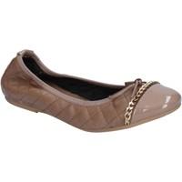 Zapatos Mujer Bailarinas-manoletinas Crown bailarinas beige cuero BX639 beige