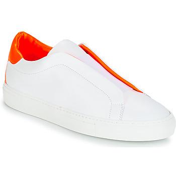 Zapatos Mujer Zapatillas bajas KLOM KISS Blanco / Naranja