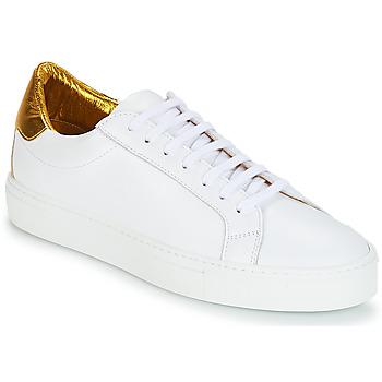 Zapatos Mujer Zapatillas bajas KLOM KEEP Blanco / Dorado