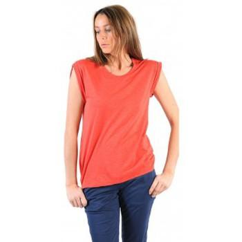 textil Mujer Camisetas manga corta American Vintage TEE-SHIRT JAC60E11 VERMILLON Rojo