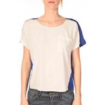 textil Mujer Camisetas manga corta Vero Moda Top Félina 10074109 Bleu/Blanc Azul