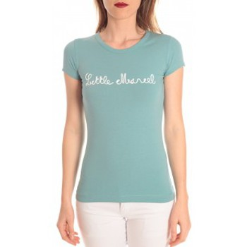 textil Mujer camisetas manga corta Little Marcel t-shirt tokyo corde turquoise Azul
