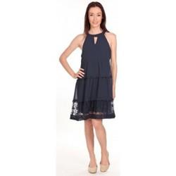 textil Mujer Vestidos cortos Vero Moda Robe New Dina Bleue LOVELY SS TOP PP Bleu Azul