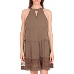 textil Mujer Vestidos cortos Vero Moda Robe New Dina Taupe LOVELY SS TOP PP Marrón