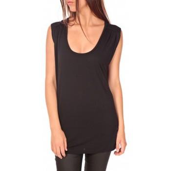 textil Mujer Camisetas manga corta Vero Moda Top Orabelle SL Noir Negro
