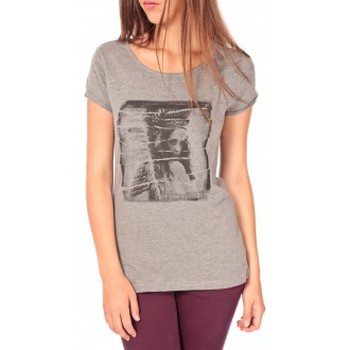 textil Mujer Camisetas manga corta Tom Tailor T-shirt With Print Gris Gris