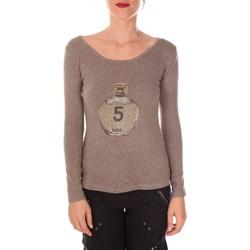 textil Mujer Jerséis Vision De Reve Vision de Rêve Pull Five Col Rond 1036 Taupe - Marrón