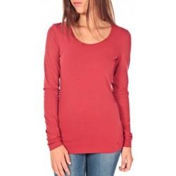 textil Mujer Camisetas manga larga Tom Tailor Lara Stretch Longsleeve Rouge Rojo