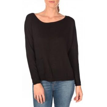 textil Mujer Jerséis Tom Tailor Basic Structure Pullover Noir Negro
