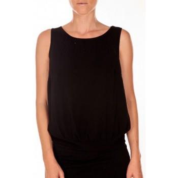 textil Mujer Camisetas sin mangas Vero Moda BELFAST SL TOP EA noir Negro