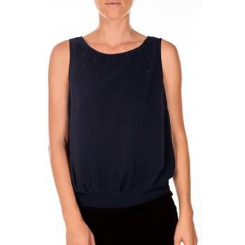 textil Mujer Camisetas sin mangas Vero Moda BELFAST SL TOP EA navy Azul