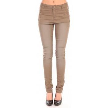 textil Mujer Pantalones Vero Moda RIDER NW PCK STITCH 88349 Marrón