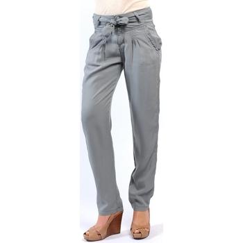textil Mujer Pantalones Sud Express PANTALON PIROIR CIMENT Gris