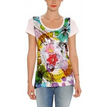 textil Mujer Camisetas manga corta Desigual TS_RAQUEL 32T2412 Blanc Blanco