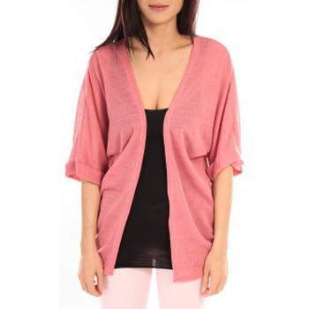 textil Mujer Chaquetas de punto Vero Moda MONA 2/4 LONG CARDIGAN 89960 Rose Rosa