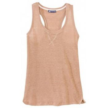 textil Mujer Camisetas sin mangas Petit Bateau Débardeur femme dos nageur en lin 32930 25 Marron Marrón