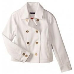 textil Mujer Chaquetas Petit Bateau Caban femme volume court en serge 32318 07 Blanc Blanco