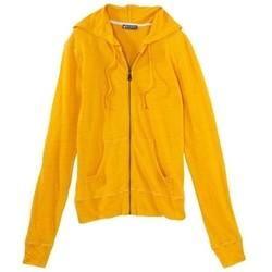 textil Mujer Chaquetas de punto Petit Bateau Veste zippée femme à capuche en lin 32928 73 Jaune Amarillo