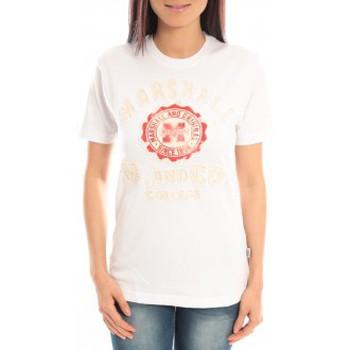 textil Mujer Camisetas manga corta Sweet Company T-shirt Marshall Original M and Co 2346 Blanc Blanco
