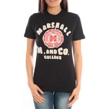 textil Mujer Camisetas manga corta Sweet Company T-shirt Marshall Original M and Co 2346 Noir Negro