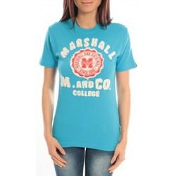 textil Mujer Camisetas manga corta Sweet Company T-shirt Marshall Original M and Co 2346 Bleu Azul