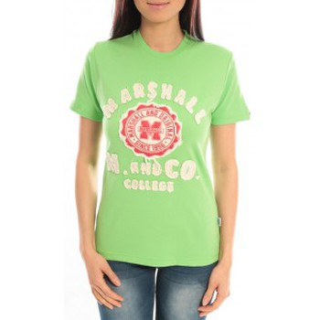 textil Mujer camisetas manga corta Sweet Company T-shirt Marshall Original M and Co 2346 Vert Verde