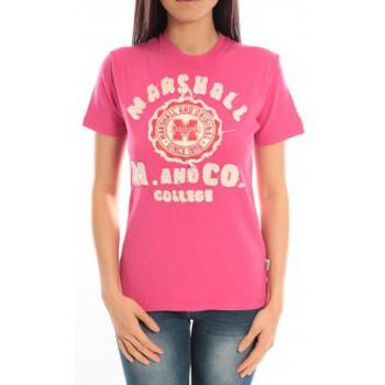 textil Mujer camisetas manga corta Sweet Company T-shirt Marshall Original M and Co 2346 Fushia Rosa
