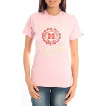 textil Mujer Camisetas manga corta Sweet Company T-shirt Marshall Original M and Co 2346 Rose Rosa