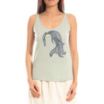 textil Mujer Camisetas sin mangas Blune Débardeur Superpower SP-DF01E13 Vert Verde