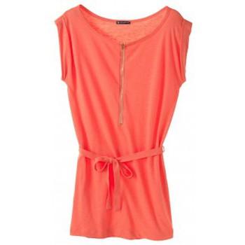 textil Mujer Vestidos cortos Petit Bateau Robe femme en jersey flammé 32992 20 Orange Naranja