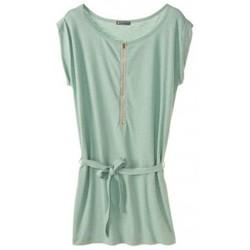 textil Mujer Vestidos cortos Petit Bateau Robe femme en jersey flammé 32992 02 Vert Verde