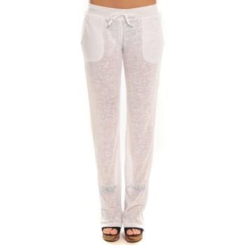 textil Mujer Pantalones de chándal By La Vitrine Pantalon  BLV01Blanc Blanco