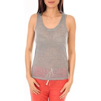 textil Mujer Camisetas sin mangas By La Vitrine Débardeur BLV06 Gris Gris