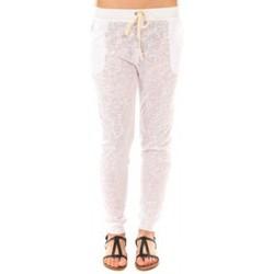 textil Mujer Pantalones By La Vitrine Pantalon American Vitrine BLV02 Blanc Blanco