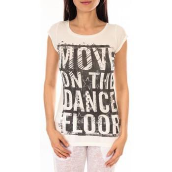 textil Mujer Camisetas manga corta L'atelier Du Marais T-shirt Atelier du Marais DANCEFLOOR Blanc Blanco