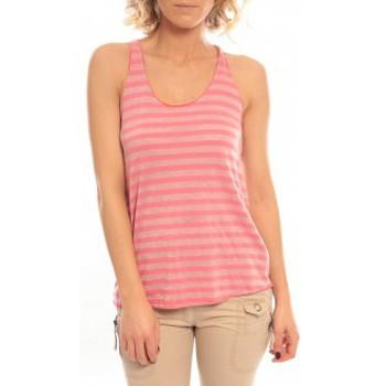 textil Mujer Camisetas sin mangas So Charlotte Oversize tank Top Stripe T36-371-00 Rose Rosa
