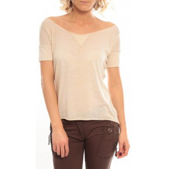 textil Mujer Camisetas manga corta So Charlotte Tight short sleeves Tee all snake T53-406-00 Beige Beige