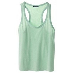 textil Mujer Camisetas sin mangas Petit Bateau Débardeur 32769 02 Vert Verde